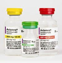 Actemra Disease-Modifying Antirheumatic Agent Tocilizumab, Preservative Free 80 mg / 4 mL Intravenous Injection Single Use Vial 4 mL Genentech 50242013501