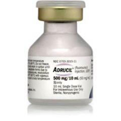 Adrucil Antineoplastic Agent Fluorouracil, Preservative Free 50 mg / mL, 500 mg Injection Single Dose Vial 10 mL , Teva 00703301513