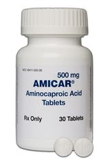 Amicar Antifibrinolytic Agent Aminocaproic Acid 500 mg Tablet Bottle 30 Tablets Akron 49411005030