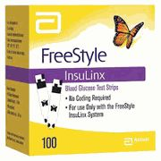 Freestyle InsuLinx Glucose test strip 100 Count