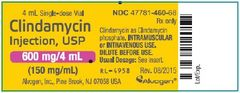 Antibacterial Clindamycin Phosphate Concentrate 150 mg / mL Intramuscular or Intravenous Injection Single Dose Vial 4 mL , Each Alvogen 47781046068