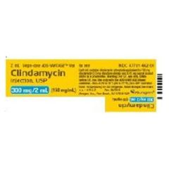 Antibacterial Clindamycin Phosphate 300 mg / 2 mL Intravenous Injection Single Dose Vial 2 mL , 25/Pack Alvogen 47781046269