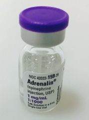 Alpha- and Beta-Adrenergic Agonist Epinephrine 1 mg / mL (1:1000) Injection Single Use Vial 1 mL , JHP 42023015925