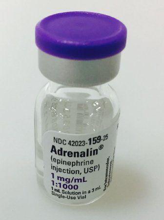 Alpha- and Beta-Adrenergic Agonist Epinephrine 1 mg / mL (1:1000) Injection Single Use Vial 1 mL , JHP 42023015925