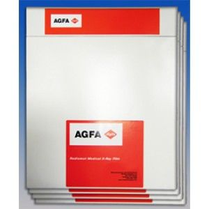 "AGFA Radiomat G Plus-Half Speed Green Sensitive X-Ray Film 7X17"" , 100 Sheets/Box , Agfa EZP80"