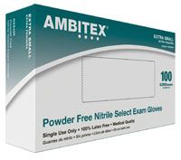 Ambitex Select PF Nitrile Glove X-Small 100/Bx, 10 BX/CASE , HS-NXS400