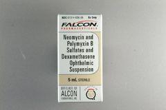 Antibacterial / Corticosteroid Neomycin Polymyxin B Sulfate / Dexamethasone 0.1% Ophthalmic Drops Dropper Bottle 5 mL , Sandoz 61314063006