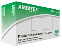 Ambitex Select PF Nitrile Glove X-Small 200/Bx, 10 BX/Case , HS-NXS402