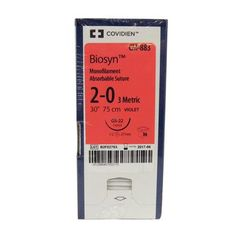"""Biosyn Suture CM883, 30"""" (GS-22), Size 2-0 ,36/Pkg , COVIDIEN CM883"""