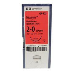 """Biosyn Suture CM923, Size 2-0 ,36"""" (GS-21), 36/Pkg , COVIDIEN CM923"""