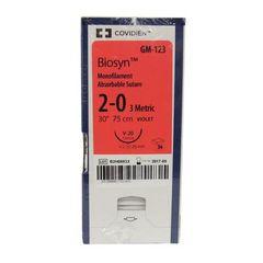 "Biosyn Suture GM125, 36"" (V-20), Size 2-0 , 36/Pkg , COVIDIEN GM125"
