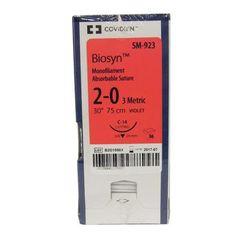 """Biosyn Suture SM923, 30"""" (C-14), Size 2-0 , 36/Pkg , COVIDIEN SM923"""