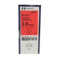 "Biosyn Suture GM122, 30"" (V-20), Size 3-0 , 36/Pkg , COVIDIEN GM122"