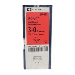 """Biosyn Suture SM632, 30"""" (C-23), Size 3-0 , 36/Pkg , COVIDIEN SM632"""