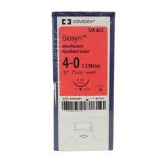 """Biosyn Suture SM633, 30"""" (C-23), Size 4-0 , 36/Pkg , COVIDIEN SM633"""