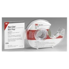 Abrader Tape Red Dot 3/4 X 196 Inch, Roll with Dispenser Electrodes , 3M 2236