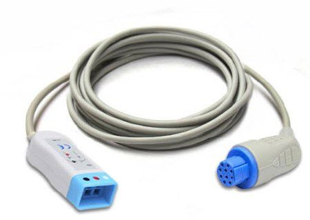 10 Pin to 3 Lead Dual ECG /EKG Trunk Cable Datex-Ohmeda 3 Lead Cable, 10 Feet, Blue Connector , Vyaire Medical 545302-HEL