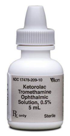 Ketorolac Tromethamine 0 5 Ophthalmic Drops Bottle 5 Ml Akron 17478020910