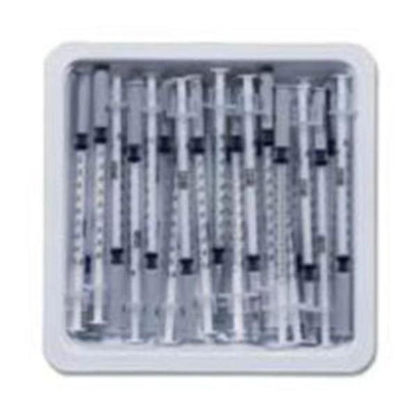 Allergy Tray PrecisionGlide 1/2 mL 27 Gauge 3/8 Inch Attached Needle Without Safety , 25/Pack , 40/Pack , BD 305536