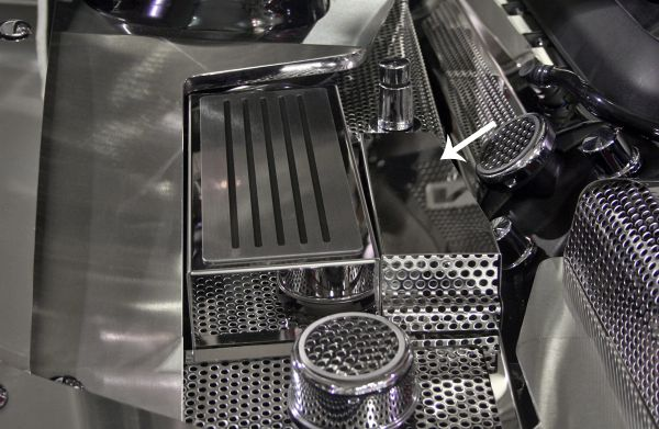 Mustang BCM Cover Perforated V8 & GT 5 0 2011-2012 Polished Stainless Steel