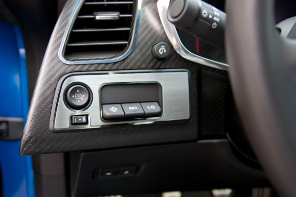 2014 corvette stingray mirror control hud trim plate coupe only factorystripe. Black Bedroom Furniture Sets. Home Design Ideas