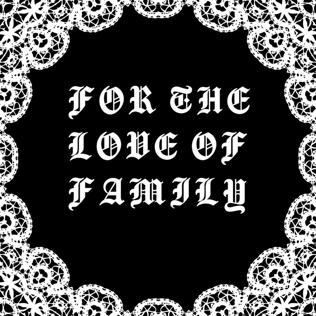 For the love of family needlepoint frame