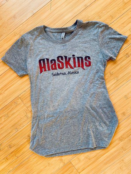 Heather Grey AlaSkins T-shirt (Women's Cut)