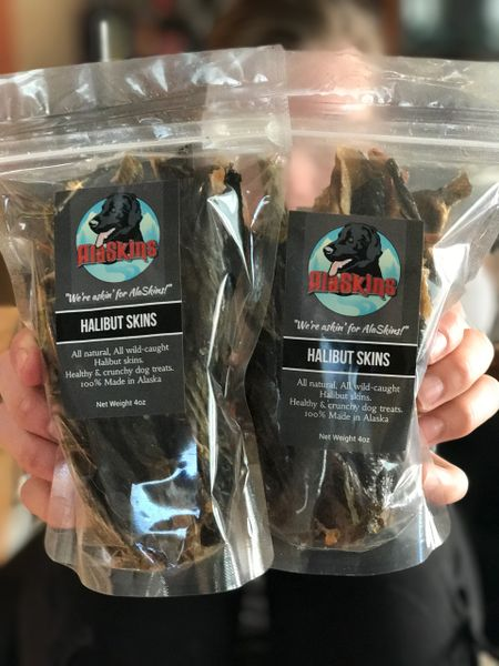 2 - 4oz packs Halibut dog treats