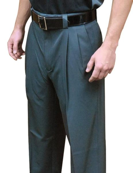 """NEW EXPANDER WAISTBAND - 4-Way Stretch"" Pleated Base Pants-Charcoal Grey"