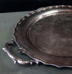 Vintage Silver Handled Tray