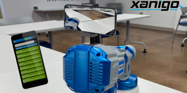 The Xanigo disinfect sprayer app.
