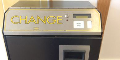 We have free chage machine for all self service customers