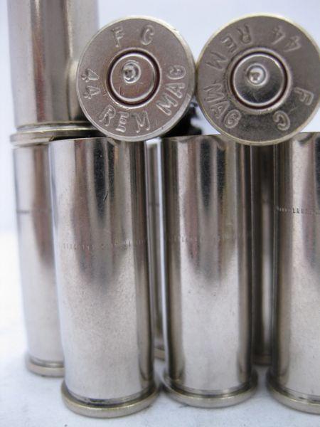 .44 Rem Mag, Assorted Mfgr, Nickel Plated 50