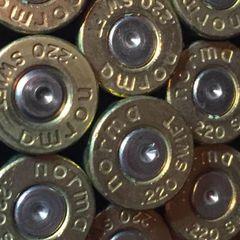 .220 Swift, 'Norma', used rifle brass. 20 pk