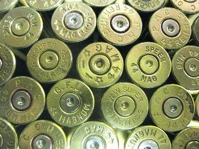 .44 Rem Magnum, Assorted Brand, Used Brass 50 pack.