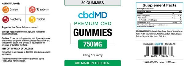 cbdMD Gummies Benefits