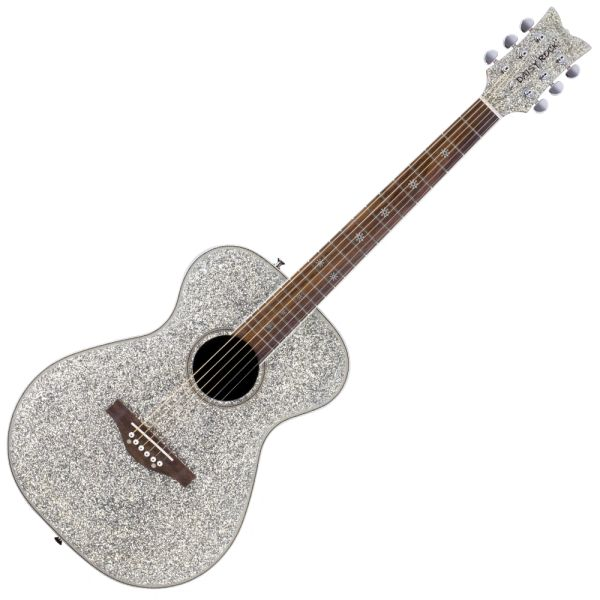 Daisy Rock 'Pixie' Acoustic Guitar ~ Silver Sparkle