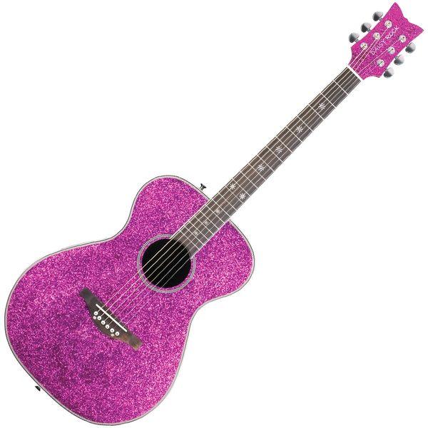 Daisy Rock 'Pixie' Electro-Acoustic Guitar ~ Pink Sparkle