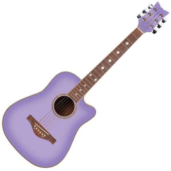 Daisy Rock 'Wildwood' Short Scale Acoustic Guitar ~ Purple Daze