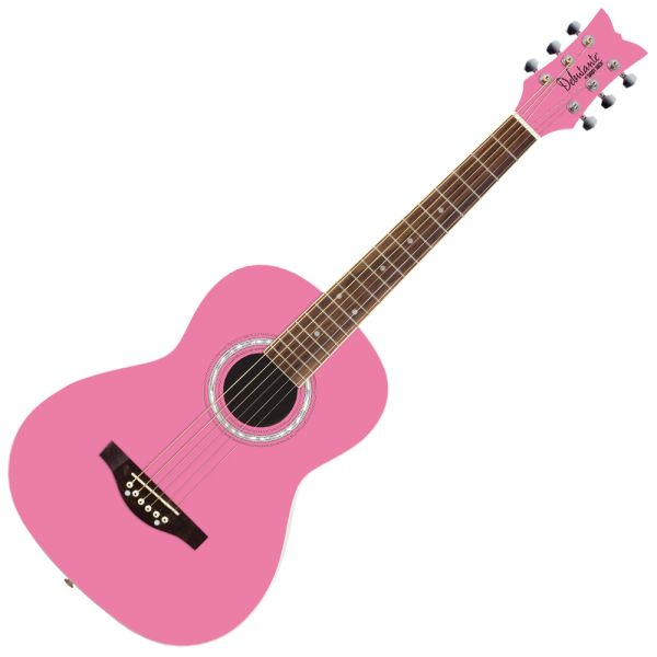 Daisy Rock 'Debutante Junior Miss Acoustic' Guitar ~ Bubble Gum Pink
