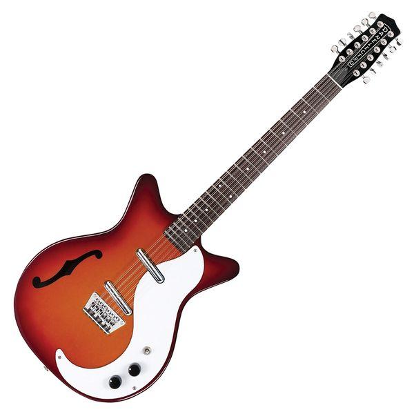 Danelectro '59 12 String Guitar With F-Hole ~ Cherry Sunburst