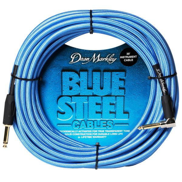 Dean Markley Blue Steel Instrument Cable ~ 30ft Right Angle