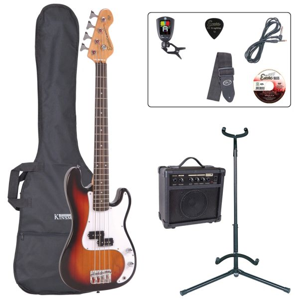 Encore E20 7/8 Bass Guitar Pack ~ Sunburst