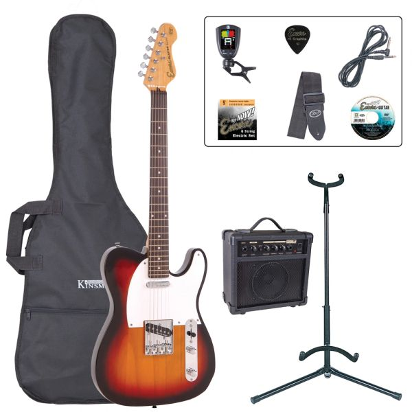 Encore E2 Electric Guitar Pack ~ Sunburst