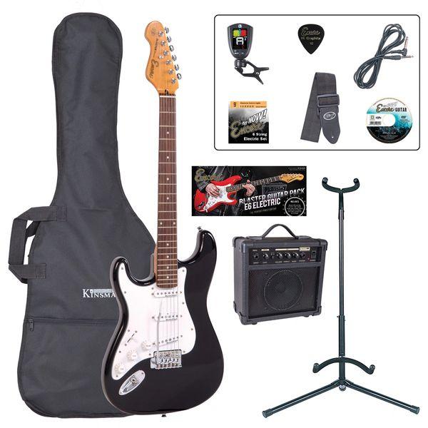 Encore E6 Electric Guitar Pack ~ Left Hand Gloss Black