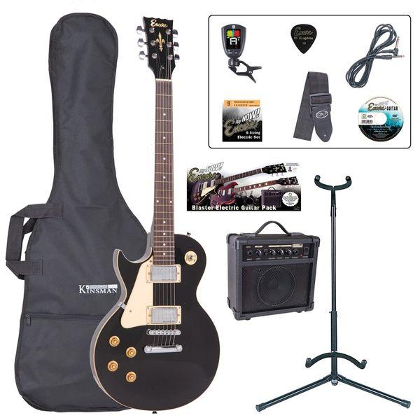 Encore E99 Electric Guitar Pack ~ Left Hand Gloss Black