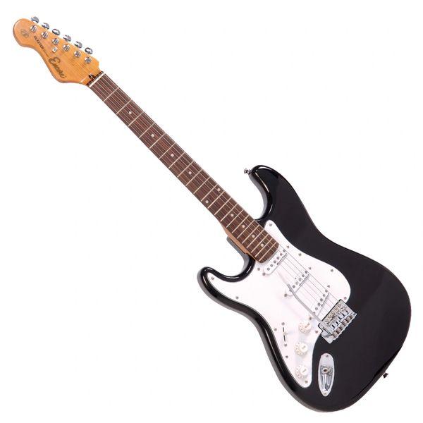 Encore E6 Electric Guitar ~ Left Hand Black