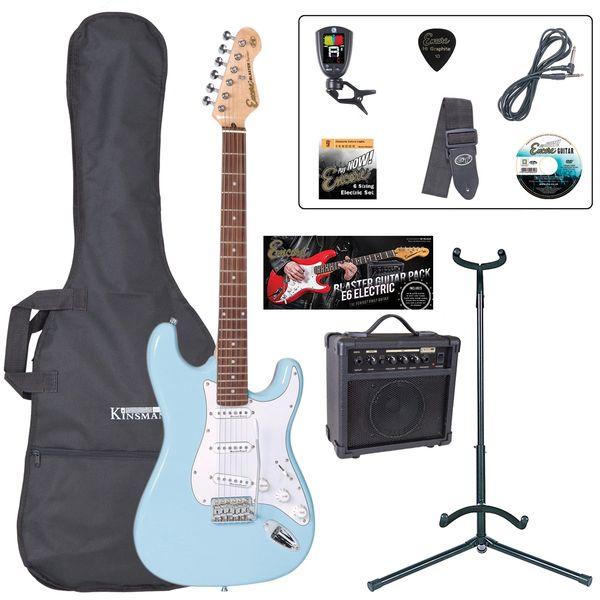 Encore E6 Electric Guitar Pack ~ Laguna Blue