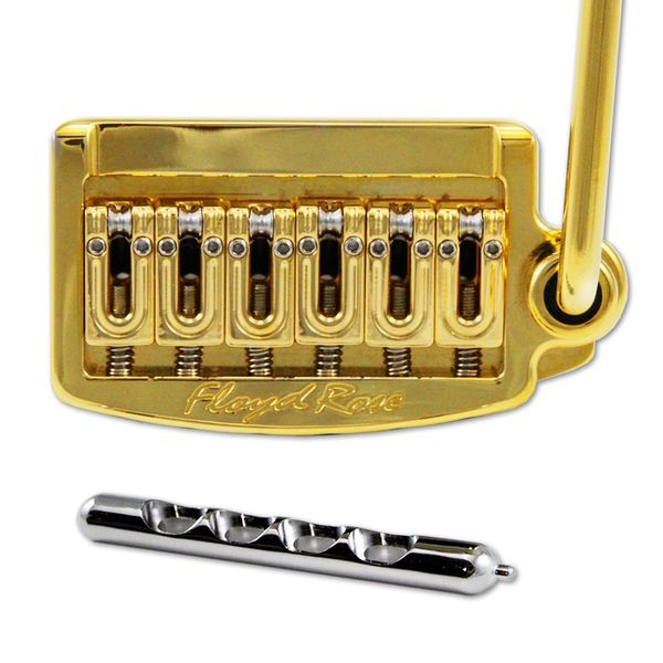 Floyd Rose FR Rail Tail Tremolo ~ Wide Gold