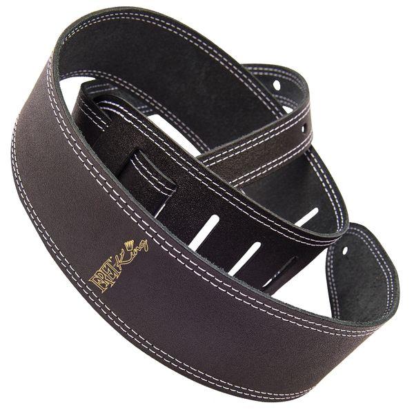 Fret-King Leather Strap ~ Black